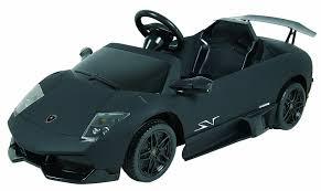 Lamborghini Murcielago Matte Black - amazon com dexton lamborghini 6v murcielago matte black toys