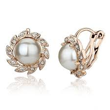clip on earring carlo us no ear clip earrings korea pearl earrings korean