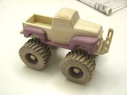 Homemade Wooden Toy Trucks by Dempsey Woodworking Monster Truck