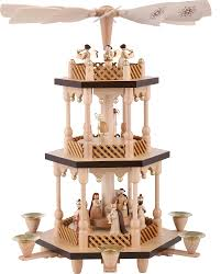 3 tier pyramid nativity wood 38 cm 15in by