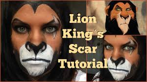 lion kings scar makeup tutorial halloween 2015 mommamakeup