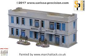 two storey building 20mm sarissa north african large two storey building sar20029