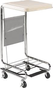 Medical Laundry Hamper by Hamper Stand With Poly Coated Steel Drive Medical