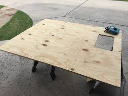 Make A Picnic Table Out Of One Sheet Of Plywood by Diy Truestrike Gel Pad 4x5 Mat For Around 175 Golf Simulator Forum