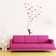 colours butterlies and kitten wall stickers beautify your colours butterlies and kitten wall stickers