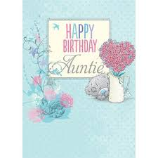 auntie birthday card me to you happy birthday greeting cards