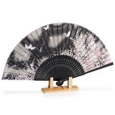 japanese folding fan black butterfly japanese folding fan japanese fans