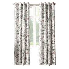 ivory madeline print window curtain panel 84 in at home at home