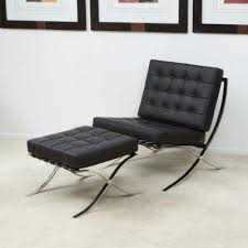Black Leather Accent Chair Black Leather Modern Accent Lounge Chair New Ebay