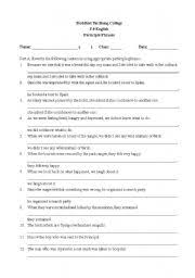 english teaching worksheets participle