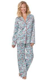 flannel lined satin pajamas pajamagram