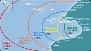Bucerias Mexico Map by Puerto Vallarta Fishing Calendar