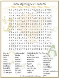 thanksgiving word search for printable from printabletreats