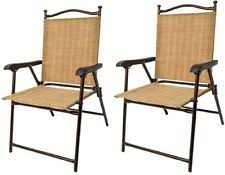 greendale home fashion outdoor sling back chairs set of 2 patio