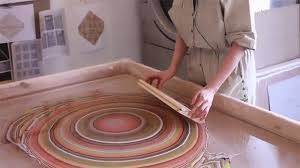 you need to see how these colorful marbled floors are made