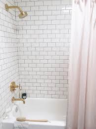 home decor tile bathroom simple white subway tile bathroom shower home decor