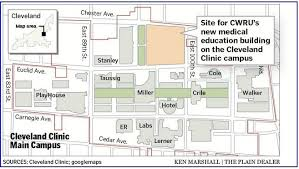 map of cleveland clinic cleveland clinic cwru announce plan to build