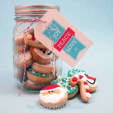 bite size christmas and holiday cookies in a jar