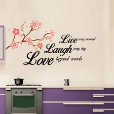 give a touch of creativity to your home with the wall stickers beautiful vinyl wall sticker quote live laugh love wall sticker