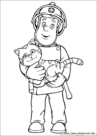 fireman sam 01 coloring free fireman sam coloring pages
