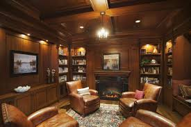 wood paneling living room