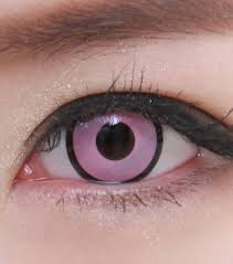 geo sf 36 crazy lens pink with black outline halloween contact