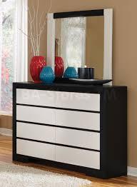 black dresser and nightstand set
