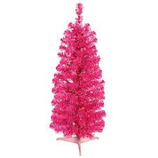 Fibre Optic Slim Christmas Trees - trees pink lights sears