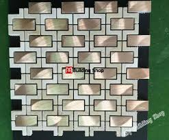 3d mosaic metal wall tile backsplash smmt110 rose gold metallic