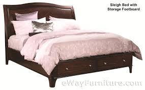 Platform Sleigh Bed Metropolitan Mahogany Storage Platform Sleigh Bed Bedroom Set