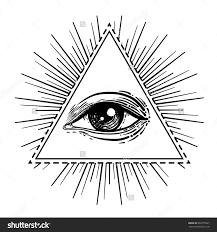 vector illustration all seeing eye pyramid symbol