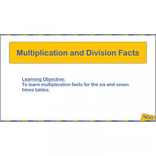 Learn Times Tables Multiplication And Division Facts Sixes And Sevens Ks2 Maths