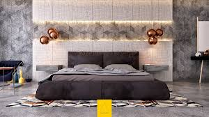 Corner Bed Headboard Master Bedroom With Accent Wall Wall Mounted Corner Brown