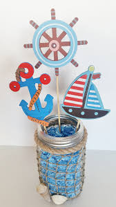 sailor baby shower decorations nautical baby shower table centerpiece nautical jar