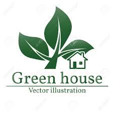 green house logo eco house green house vector green house