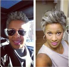 how to wear short natural gray hair for black women salt and pepper natural hair hair pinterest natural short