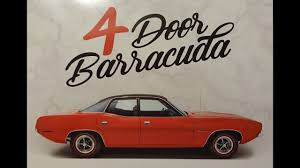 4 Door Muscle Cars - 1970 plymouth 4 door barracuda cuda in red u0026 engine sound on my