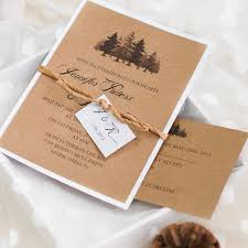 layered wedding invitations country chic tree layered wedding invitations ewls049 as low as