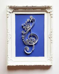 treble clef art frame music art music wall art paper art