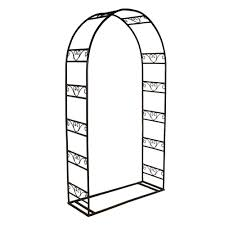 white arch 84 x 48 in outside wooden garden arbor mfs35w the
