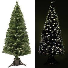 werchristmas 6 ft pre lit multi colour fibre optic christmas tree
