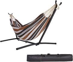 amazon com amazonbasics fabric hammock with stand garden u0026 outdoor