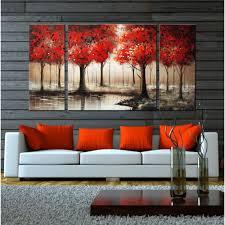 5 piece canvas wall art hand painted palette knife oil best overstock wall art ideas wall art ideas dochista info