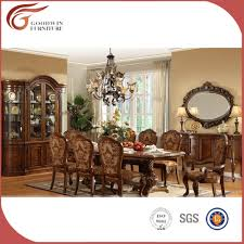 royal luxury classical wooden dining room furniture set european