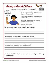 how to be a good citizen good citizen how to be and worksheets