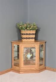 Corner Curio Cabinet Kit Deluxe Console Corner Curio Cabinet From Dutchcrafters Amish Furniture