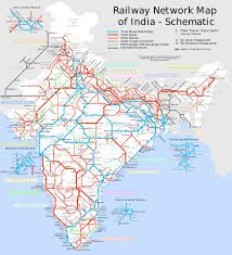 World Map Of India by India Railway Schematic Map Maps Of India