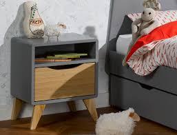 le de chevet chambre bébé table de chevet bloom gris flanelle et chêne