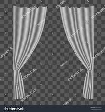 realistic tulle curtains on transparent background stock vector realistic tulle curtains on transparent background drapes for decoration window home interior vector illustration