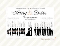 downloadable wedding programs silhouette wedding program sign pdf design canvas